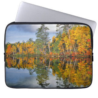 Autumn pond reflections, Maine Laptop Sleeve