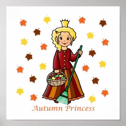 Autumn Princess Posters