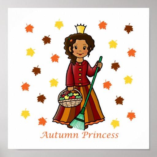 Autumn Princess Poster