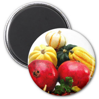 Autumn Produce 2 Inch Round Magnet