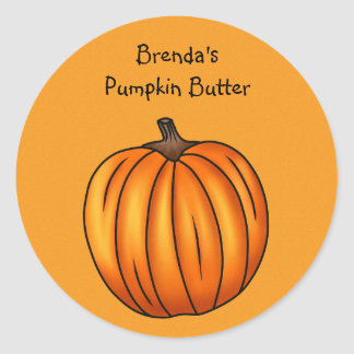 Autumn pumpkin classic round sticker