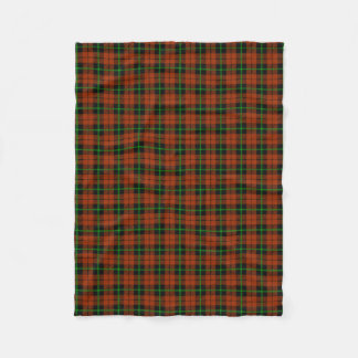 Autumn pumpkin orange green/black stripe fleece blanket