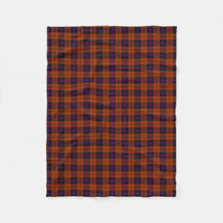 Autumn pumpkin orange purple/black stripe fleece blanket