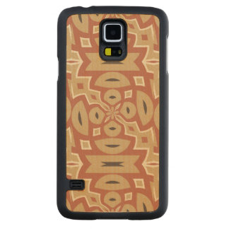 Autumn Pumpkin Spice Design Carved Maple Galaxy S5 Case