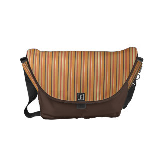 Autumn Pumpkin Spice Stripes Courier Bags