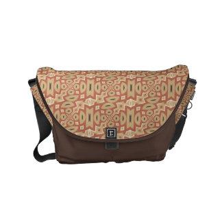 Autumn Pumpkin Spice Tribal Design Courier Bag