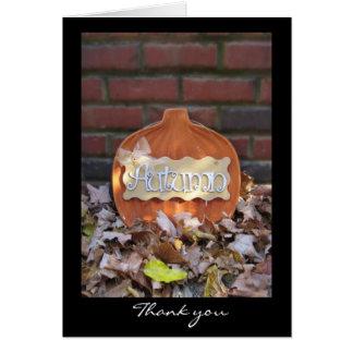 Autumn Pumpkin with Border Card
