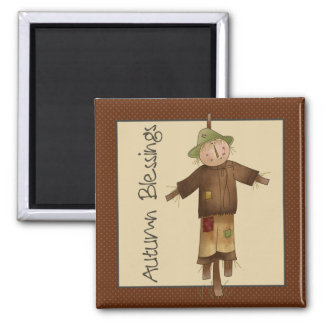 Autumn Pumpkins · Scarecrow Square Magnet