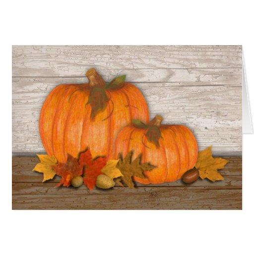 Autumn Pumpkins Thanksgiving Card