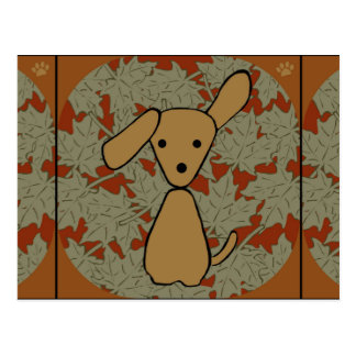 Autumn Pup Postcard