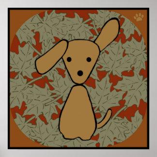 Autumn Pup Poster