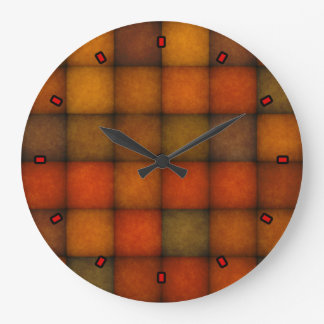 Autumn Quilt by Julie Everhart Large Clock