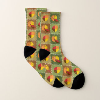 Autumn Quilt Socks 1