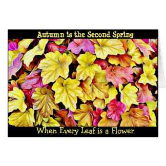 Autumn Quote Fall Leaves Pretty Seasonal Card