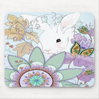 Autumn Rabbit Mousepad