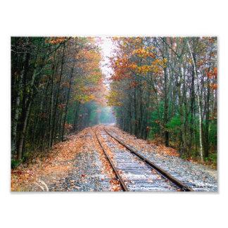 Autumn Railroad Photo Print