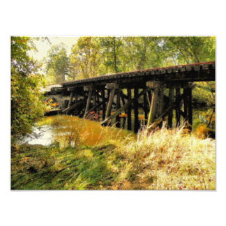 Autumn Railroad Photography Photo Print