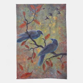 Autumn Ravens Kitchen Towel