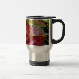 Autumn Red Dogwood Leaf Travel Mug
