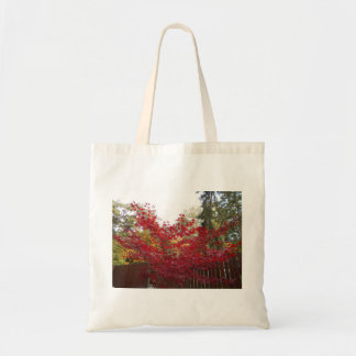 Autumn Red Maple Leaves Tote Bag