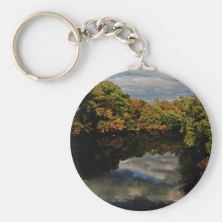 Autumn Reflect Basic Round Button Keychain