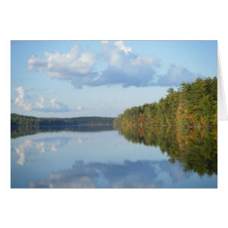 """Autumn Reflections at Long Pond"" Card"