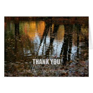 Autumn Reflections Sympathy Thank You Note card