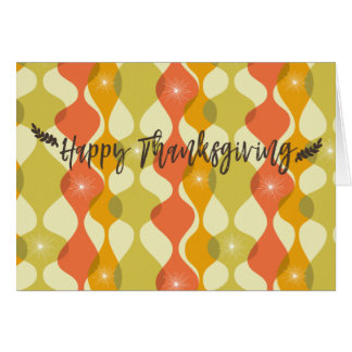 Autumn Retro Thanksgiving Card