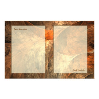 Autumn Riches Fractal Art Custom Stationery