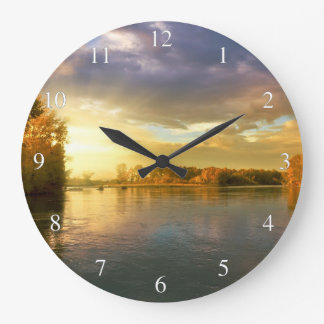 Autumn River Clock