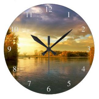 Autumn River Large Clock