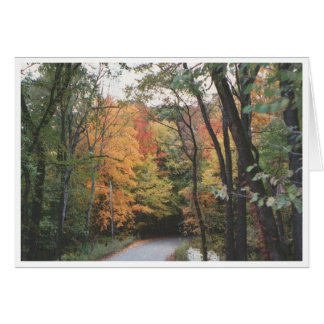 Autumn Road Card