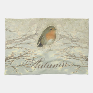 AUTUMN ROBIN Fall Branches Kitchen Towel