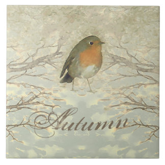 AUTUMN ROBIN Fall Branches Tile