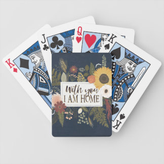 Autumn Romance III | With You I Am Home Bicycle Playing Cards