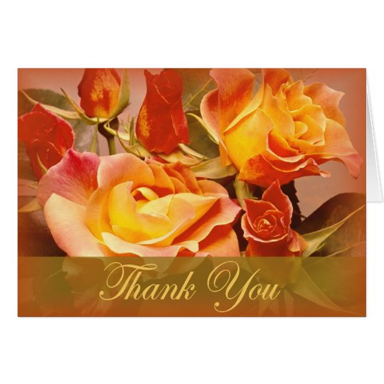 Autumn Rose thank you cards