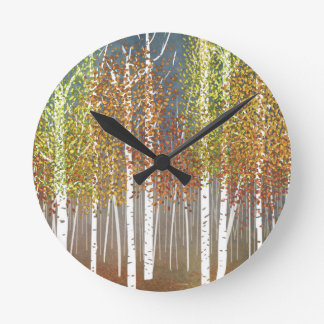 Autumn Round Clock