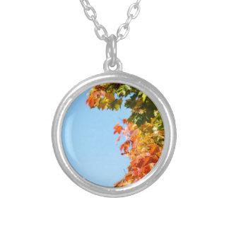 Autumn Round Pendant Necklace