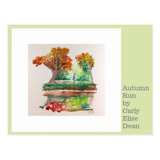 Autumn Run Postcard