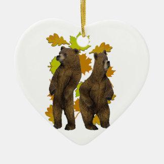 Autumn Rush Ceramic Heart Ornament