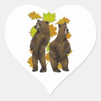Autumn Rush Heart Sticker