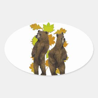 Autumn Rush Oval Sticker