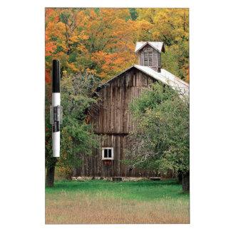 Autumn Rustic Barn Leelanau County Michigan Dry Erase Board