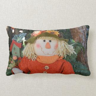 Autumn Scarecrow Doll Lumbar Pillow