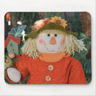 Autumn Scarecrow Doll Mouse Pad