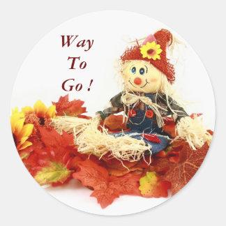 Autumn Scarecrow Reward Stickers