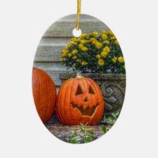 Autumn Scene Ceramic Ornament