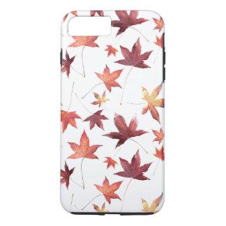 Autumn Scene Dead Leaves Customizable White BG iPhone 8 Plus/7 Plus Case