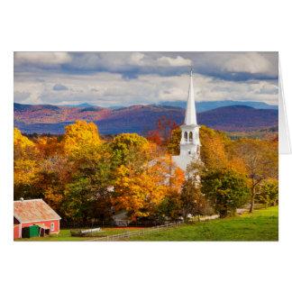 Autumn Scene In Peacham, Vermont, USA Greeting Cards