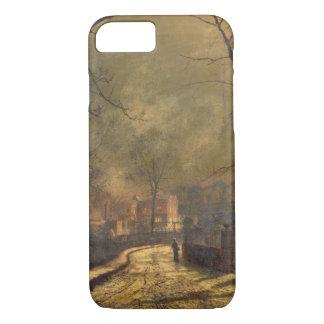 Autumn Scene, Leeds, 1874 (oil on board) iPhone 7 Case